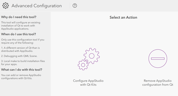 Configure with Qt Kits—AppStudio for ArcGIS | ArcGIS
