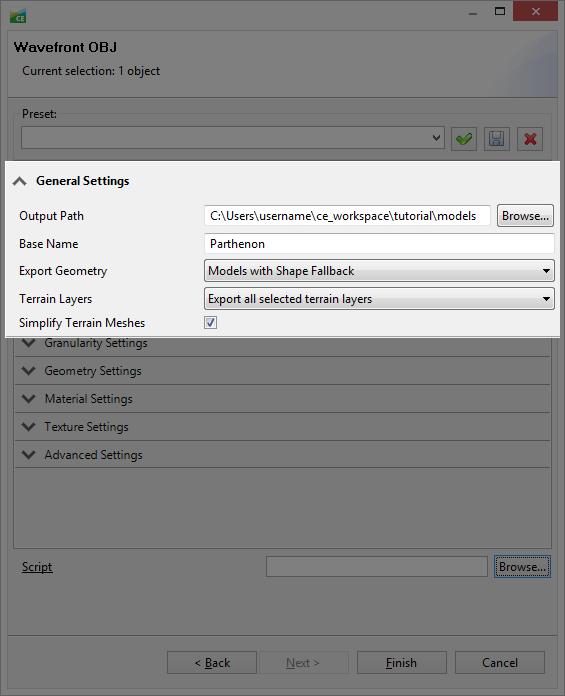 Model export—Esri CityEngine | ArcGIS