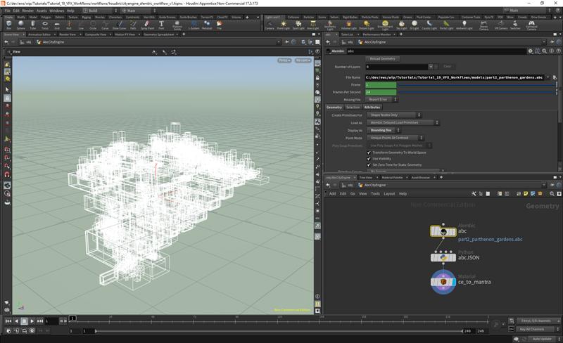 Tutorial 19: VFX workflows with Alembic—CityEngine Tutorials