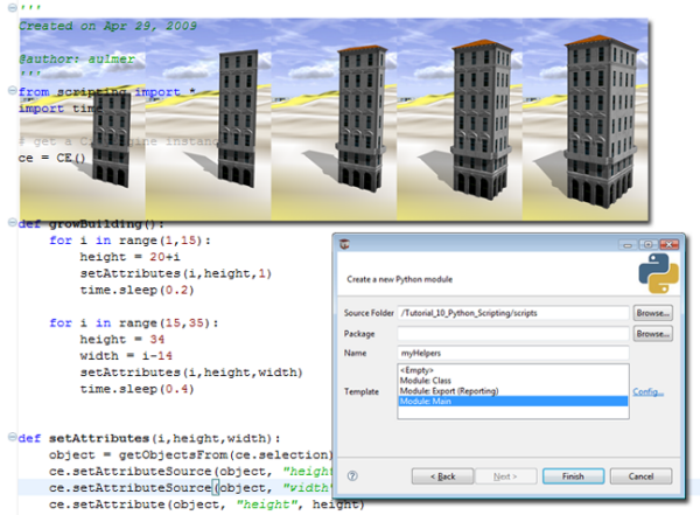 Tutorial 10: Python scripting—CityEngine Tutorials | ArcGIS
