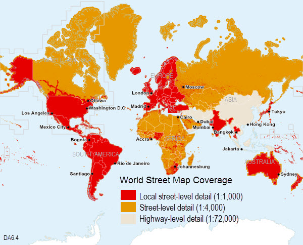 world street map 64 coverage map