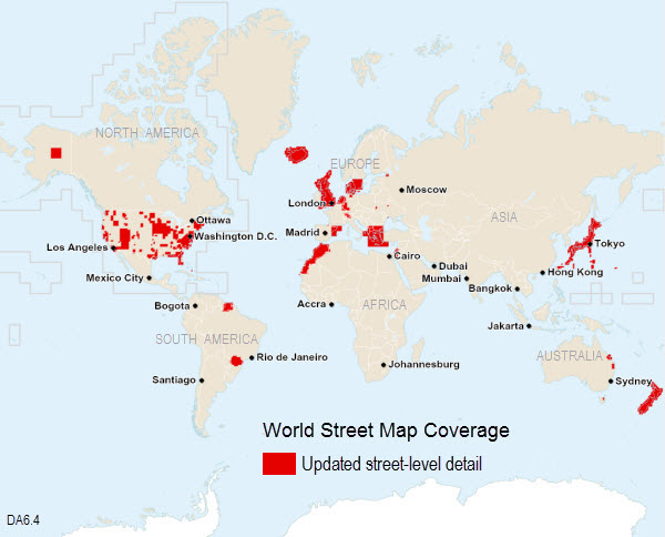 Street World Map.World Street Map 6 4 Updates Coverage Map Data Appliance 6 4 For