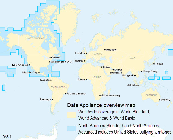 Data Appliance Coverage Map Data Appliance 6 4 For Arcgis Arcgis