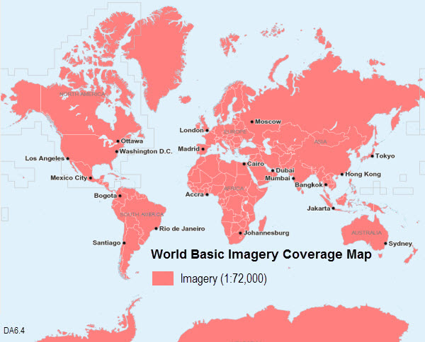 World imagerydata appliance 64 for arcgis arcgis coverage for world basic imagery 64 gumiabroncs Gallery