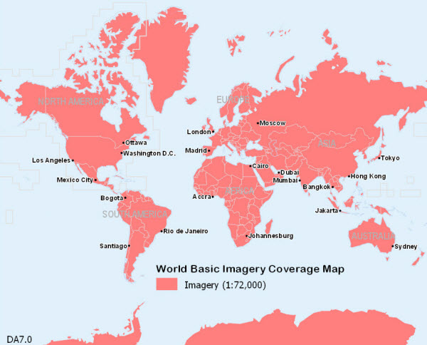 World Imagery 7.0 coverage maps—Data Appliance 7.0 for ArcGIS | ArcGIS