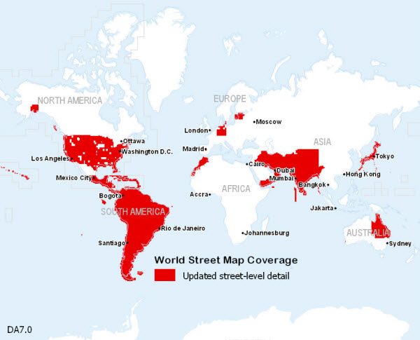Street World Map.World Street Map 7 0 Updates Coverage Map Data Appliance 7 0 For