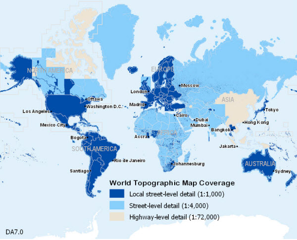 Map Of The World In Detail.World Topographic Map Data Appliance 7 0 For Arcgis Arcgis
