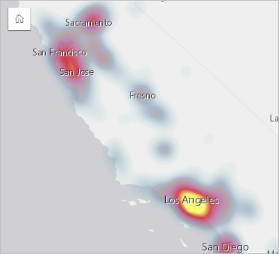 Create and use a heat map—Insights Create | ArcGIS