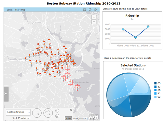 Interactive Boston Subway Map.Configure The Map As A Selector Esri Maps For Sap Businessobjects