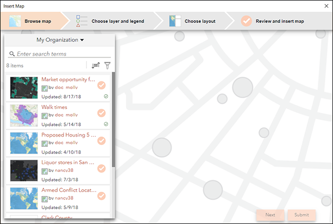 Add a dynamic map to a PowerPoint slide—ArcGIS Maps for Office ...