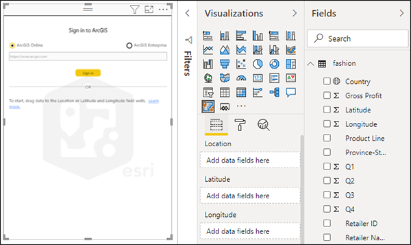 Add a map to a report—ArcGIS Maps for Power BI   ArcGIS