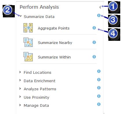 arcgis online analyze perform analysis